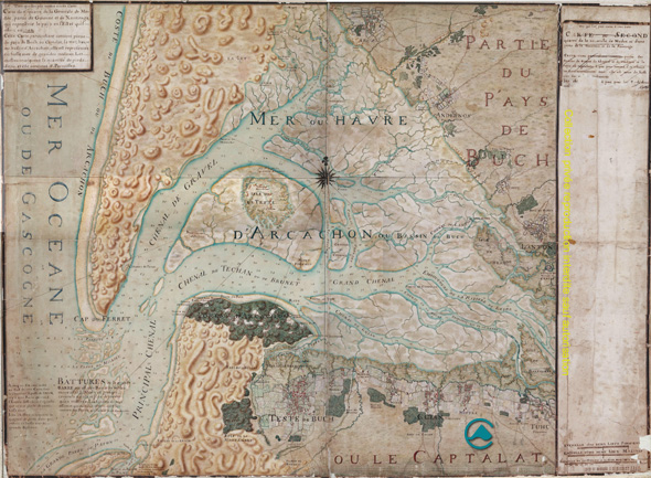 Carte Au Tresor Xviii.1708 Masse Conservatoire Patrimonial Du Bassin D Arcachon